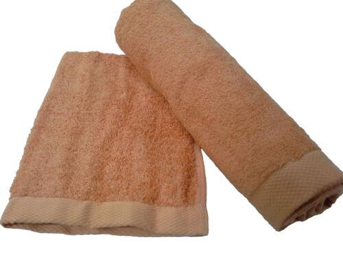 100/% Cotone. Coppia asciugamani spugna Natural Soft BARBACCI 1 Viso 1 ospite