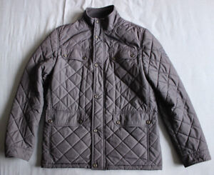 Used Jacket L Size Good Quilted Navy Condition Men's Hilfiger Tommy Large Coat wXvHRRx