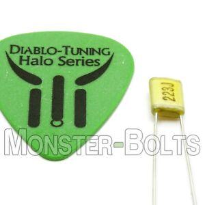 .022uf 100v 2A223J Mylar Polyester Film Guitar Tone Capacitor USA Seller