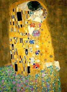 Gustav-Klimt-Kiss-print-on-canvas-giclee-8X12-amp-12X17-art-reproduction-poster