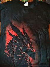 Jinx Rare WOW World of Warcraft Cataclysm Flaming Dragon Graphic Shirt Women's L