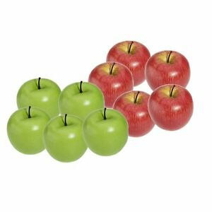 Artificial-Apple-Plastic-Fruits-Imitation-Home-Decor-10pcs-Red-and-Green-T8
