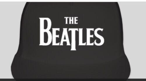 THE BEATLES Logo Trucker Style Hat Cap Music Band Instruments nouveaux réglable