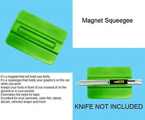 MAGNETIC SQUEEGEE FOR SIGN VINYL DIGITAL PRINT CAR WRAP