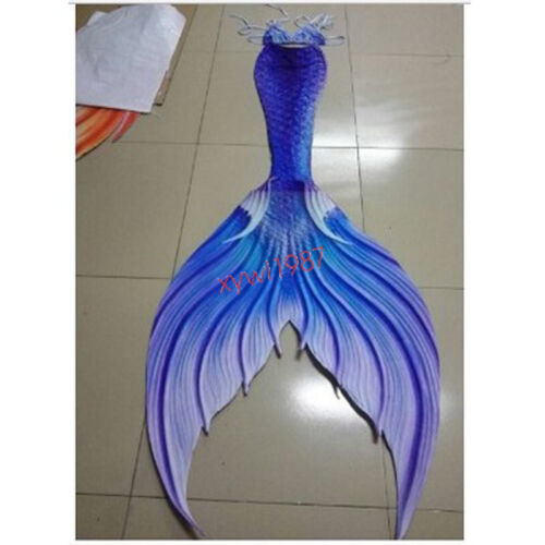 Mermaid Tail With Monofin Newest Luxurious Kids Adult Women Cosplay Costume Gift