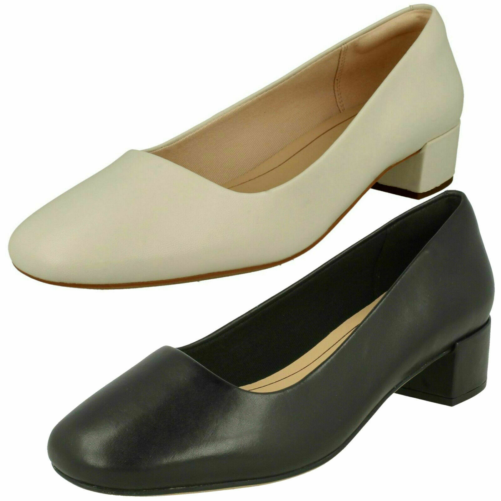 Clarks Orabella Alice Leather Court shoes