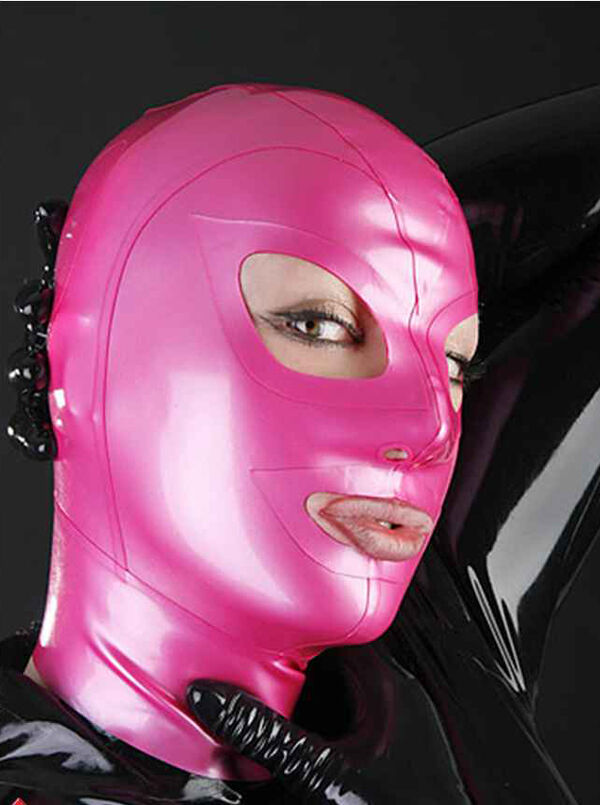 100% Latex Gummi Rubber Mask Hood 0.45mm Catsuit Bodysuit Party Classic Costume