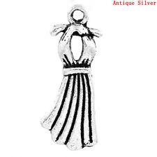 4pcs Antique Tibetan Silver Pendants Charm Supplies Jewelry Mirror 74x26x3mm YB