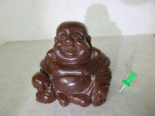 charmanter HAPPY BUDDHA Goldfluss SonnenStein kostbare Handarbeit China 1970 6cm