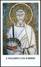 """santino-holy card""""S.POLICARPO V.M. DI SMIRNE"""