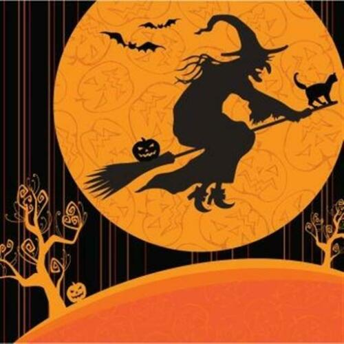 Halloween Witch/'s Crossing Lunch Napkins 18 pack
