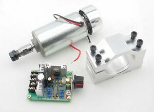 CNC-Spindle-0-3KW-Motor-amp-PWM-DC-speed-controller-amp-Mount-bracket-set-engraving