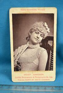 Image Is Loading 1870s CDV Carte De Visite Photo Violet Cameron