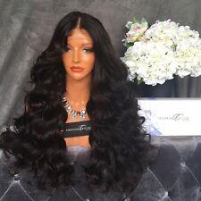Brazilian Virgin Human Hair Body Wave Full Lace Wigs Glueless Lace Front Wigs