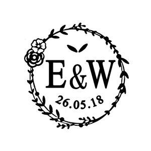 Image Is Loading Monogram Wax Seal Stamp Sealing Personalised Wedding Invitation