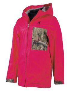 d438b5e9a4248 Image is loading Youth-Girls-Browning-Boone-Nylon-Rain-Jacket-Fuchsia-
