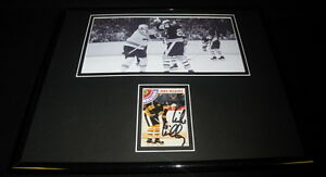 Mike-Milbury-Signed-Framed-11x14-FIGHT-Photo-Display-Bruins