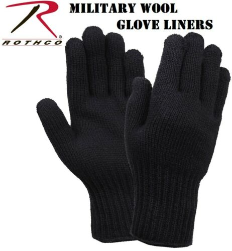 Black D-3A Military 70/% Wool Blend Glove Liners Made in the USA Rothco 8518