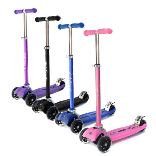 3 Wheel Scooter Kids V2 Three wheel Scooter Kick in 4 Colours with LED Wheels