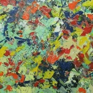 Abstract Expressionism Jackson Pollock Style Modern Splatter Art Museum Auction