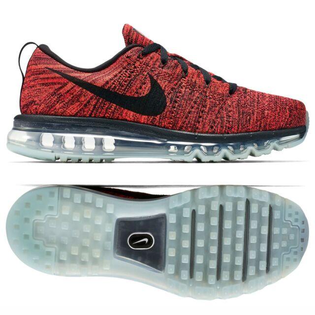 Nike Flyknit Air Max 620469 006 Black Orange Crimson Men's Running Shoes Sz 9.5