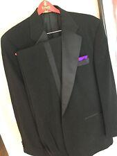 """""""Richard Harris"""" Stylish 1 Button Notch Satin Lapels Tuxedo Suit 42R/ P 36W/L31"""