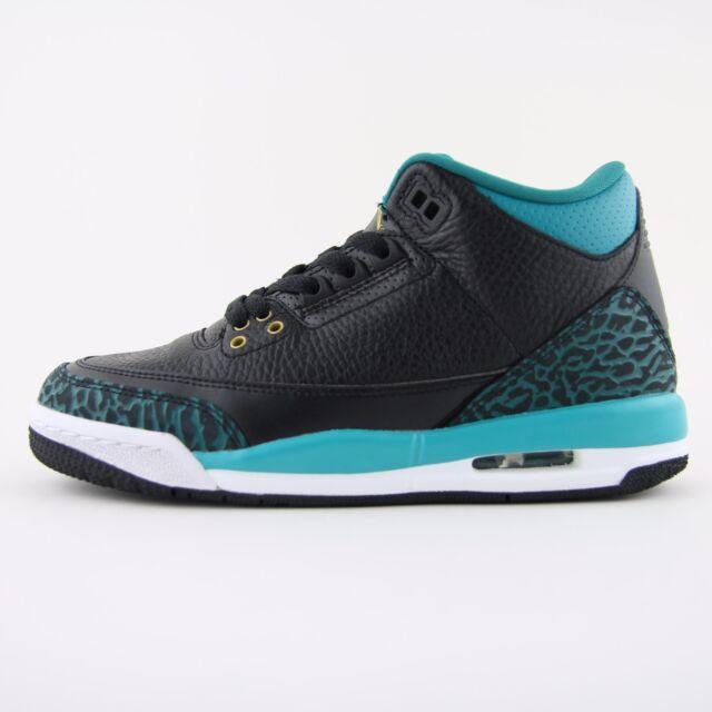New Womens Nike Air Jordan 3 III Retro Black Trainers Sneakers UK 4.5  441140 018 34467b44bcb8