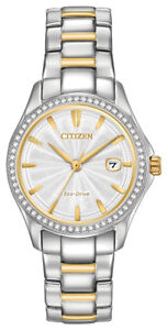 Citizen-Eco-Drive-Women-039-s-Crystal-Accents-Two-Tone-30mm-Watch-FE1144-69A