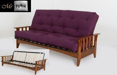 Hardwood Timber Futon Double Sofa Bed