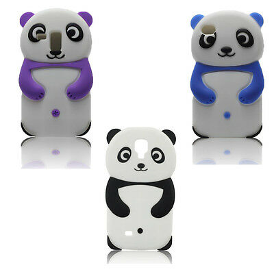 Gel Silikon Tasche Case Hülle Cover PANDA 3D für iPHONE 4 4S / 4G Schutzhülle