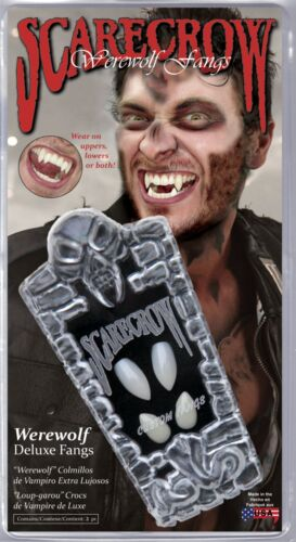 Werewolf Deluxe Fangs Halloween Teeth SCARECROW WF107 Wolf Uppers /& Lowers