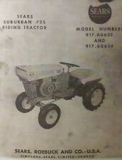 Sears Suburban David Bradley 725 Riding Tractor Owner Amp Engine Parts 2 Manuals
