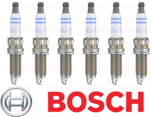 Fits BMW F12 F13 3.0L L6 GAS Set of 6 Spark Plugs BOSCH ZR5TPP33S ZR5TPP33