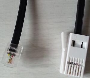 1m,BT Stecker 431A (2,5) to RJ11 6P2C Telefonleitung Kabel,2-poliger ...