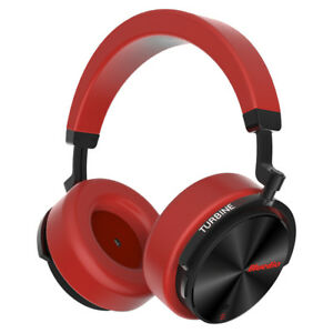 Bluetooth Wireless Headphones Bluedio T5S Noise Cancelling Stereo Headsets Red