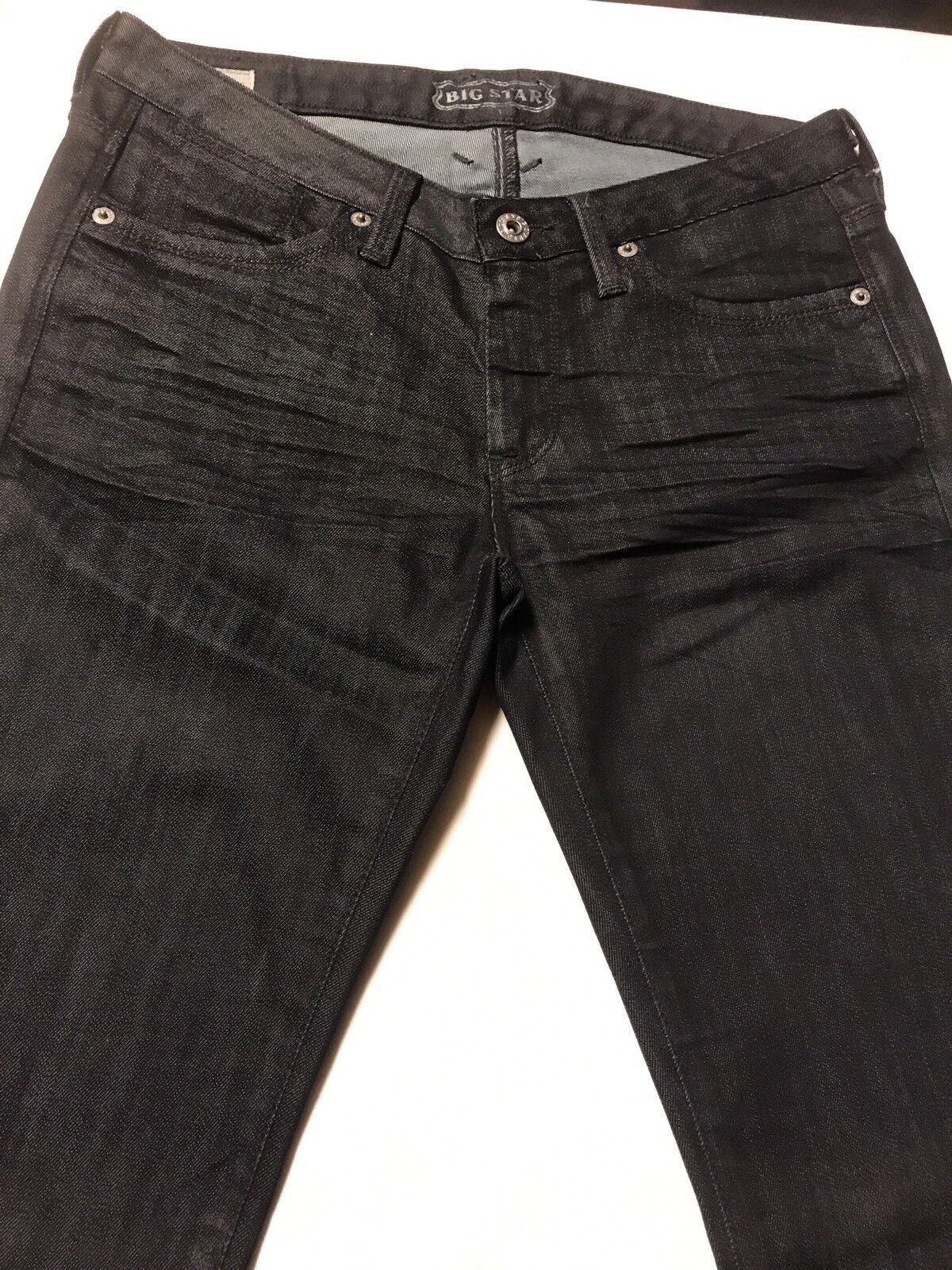 MWOT Big Star-Liz-Womens Jeans-Sz.26R-Skinny Low Rise-Cotton Blend DK bluee Denim