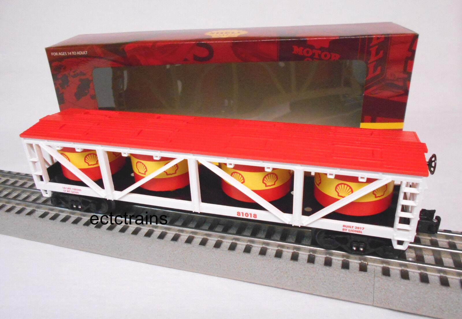 LIONEL 6-81018 SHELL VAT CAR O GAUGE train freight gas oil petroleum tanks NEW