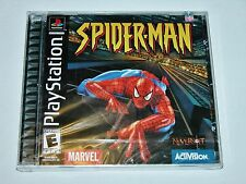Spider-man Black Label for PlayStation 1 PS1 PS2 2 - BRAND NEW FACTORY SEALED!