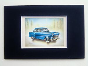 1957-Opel-Olympia-Rekord-Mounted-Colour-Vintage-Car-Automobile-Print