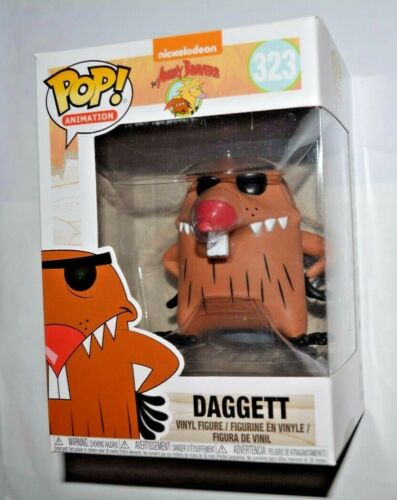 Animation Angry Beavers//Daggett Nº 323 Vinyle personnage environ 10 cm Grand Funko Pop