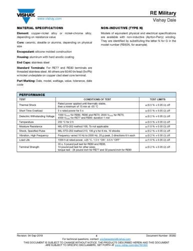 Details about  /New 10-watt 10-ohm 1/% MIL-PRF-18546 Wire Wound Resistor Vishay Dale RH01010R00