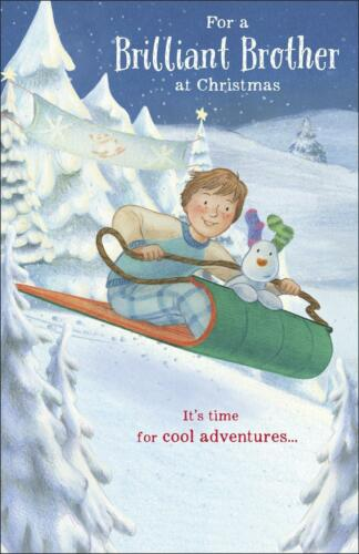 THE SNOWMAN AND THE SNOWDOG BRILLIANT BROTHER CHRISTMAS CARD NEW GIFT