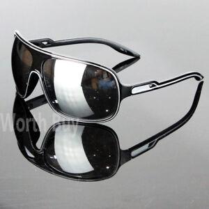 6870d731b4 New 80s Mens Women Wrap Around Sunglasses Aviator Retro Vintage ...