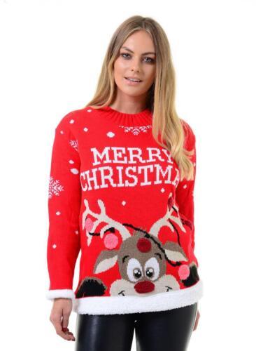 Mujer Navidad Renos Navidad Santa Novedad Rudolph Pudding puente de oso de árbol 3D