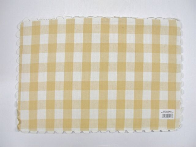"""Cotton Park Cottage Reversible Placemats ~ Yellow SeaLife ~ 13/"""" x 19/"""" NEW 4"""