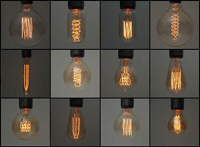 Adattabile Vintage Industriale A Incandescenza Edison Lampada Lampadine | E27 Es Vite & B22 A Baionetta-mostra Il Titolo Originale
