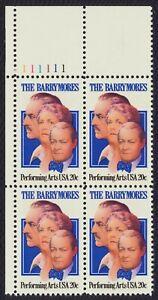 #2012 20c El Barrymores, Placa Bloque [111111 Ul ] Nuevo Cualquier 5=