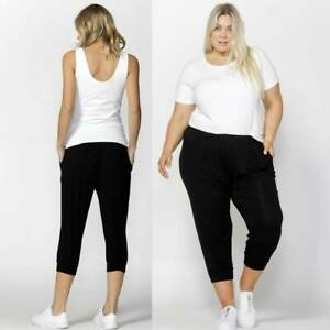 3-4-Pant-Tokyo-by-Betty-Basics-Plus-Sizes-10-12-14-16-18-20-22-Black-Casual