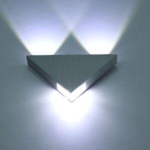 Applique-Parete-Interni-Lampada-Muro-LED-Moderne-Alluminio-3W-5W-Bianco-Freddo