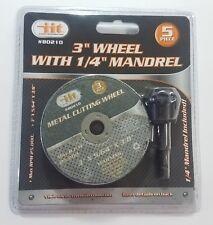 "2 Pc 3/"" Cut-Off Wheel w// Mandrel Cut Off Wheel /& Mandrel Abrasive Wheel"